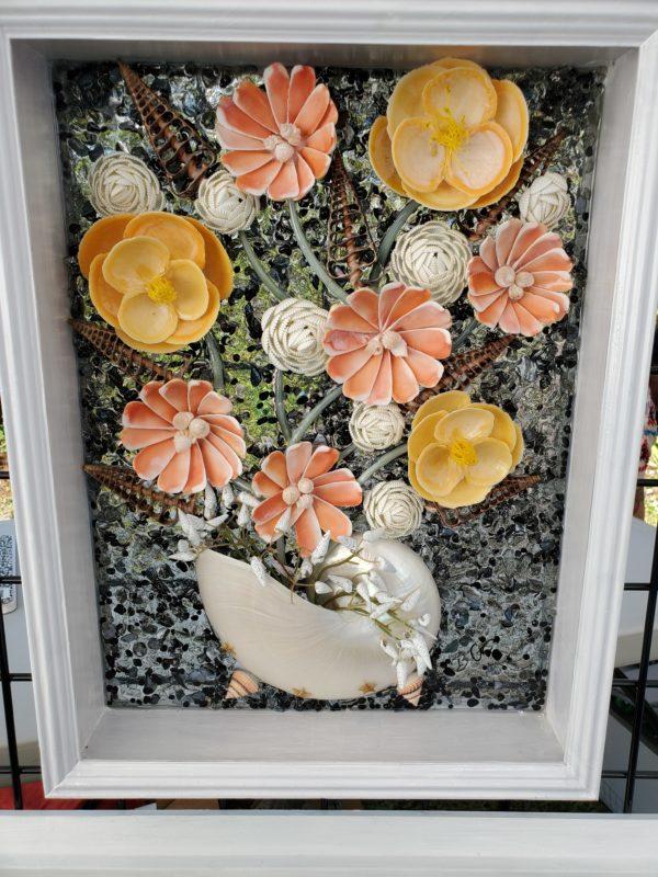 Sea Shell Flower Arrangement