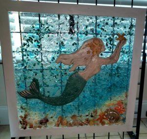 Mermaid Holding Orange Starfish